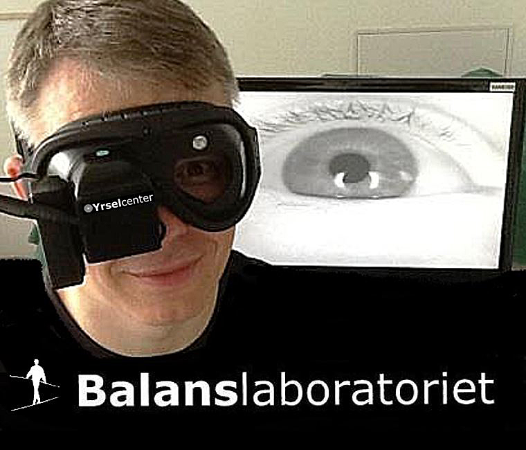 Videonystagmoskopi VNS undersökning av nystagmus Balanslaboratoriet